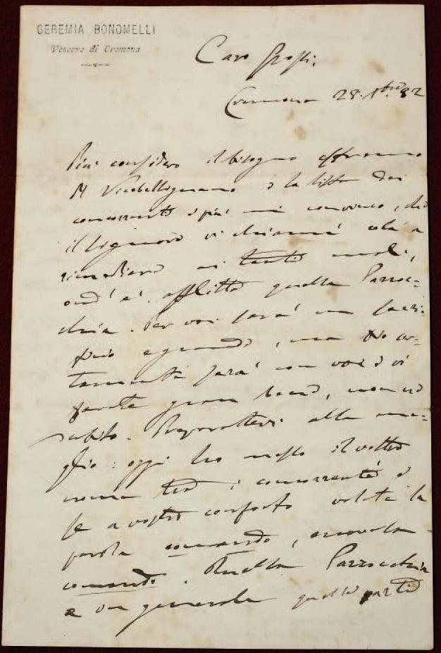 Lettera Bonomelli